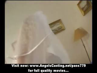 sexy golden-haired mother i as bride does blowjob