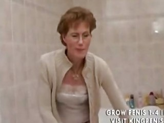perverted grandma peeing and shaving,.,..