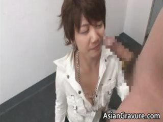 nasty oriental milf can blowing tube part1