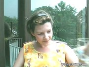 preggy wife shaves her bawdy cleft and than
