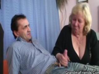 large grandma takes jocks