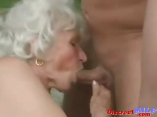 mature granny receive drilled by youthful man