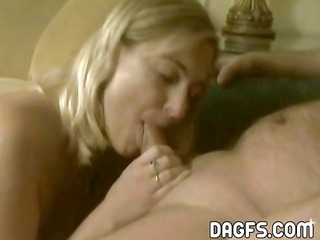 mature blond rookie shows her astonishing blowjob