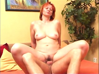 youthful boy fucks her curly aunt