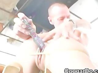 slender dark brown with huge bra buddies does anal