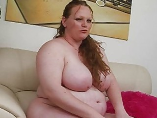 pale biggest redhead momma uses her new sex toy
