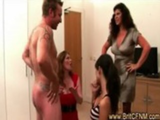 slutty mamma shows daughter how to engulf cfnm
