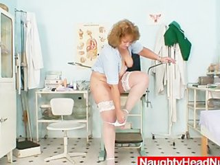 plump old nurse mama gets wicked in gyn clinic