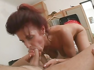 aged german landlady bonks youthful tenant -