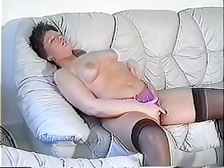 fat woman plays with her vagina