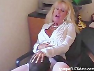 sexy granny cougar in stockings bonks a juvenile