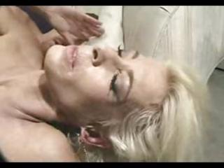 golden-haired granny gets screwed in the ass and