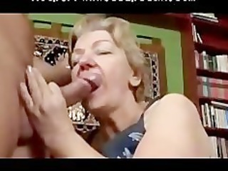 toothless obese gummy granny blowjob and fuck