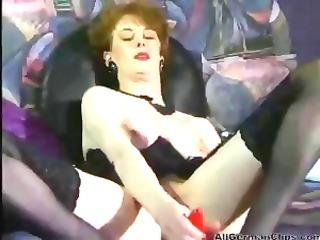 german brunette anita feller toys and fists her