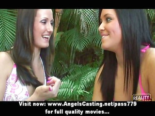 threesome flashing billibongs and making out