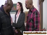 interracial aged doxy sucks on dongs
