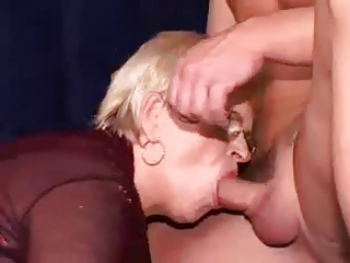 granny acquires double permeated with facial
