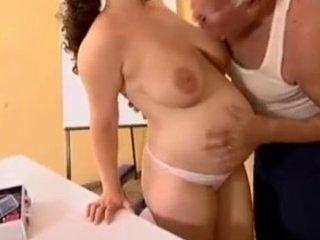preggy - older man mireck and preggy wench