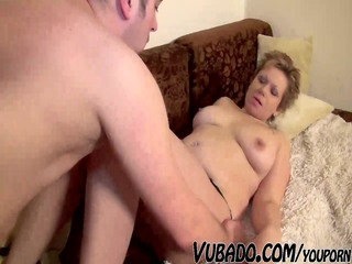 aged woman enjoys sex with bf !!