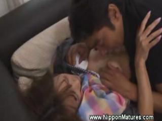 mature japanese mother i oriental receives oral