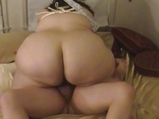 overweight wife sucks &; bonks with fastened