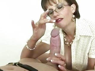 british mature femdom-goddess is fond of gags