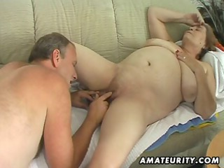 obese older amateur wife sucks and fucks