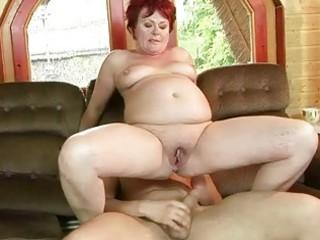 fat grandma acquires her taut vagina screwed hard