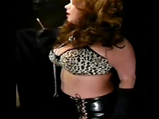 hawt older in leather smoking solo