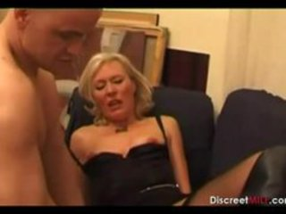casting french blonde older housewife