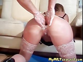 my milf exposed coarse anal fisting of hawt mom