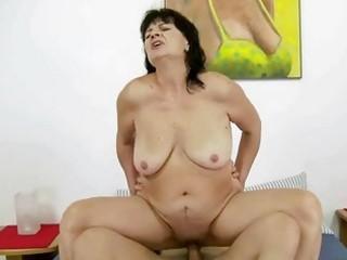 unattractive fat grandma fucking with her