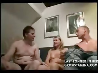 golden-haired sucks on her mans wang during the