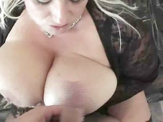 white blonde sucks on a rod to get it is hard so