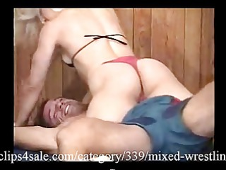 great mixed wrestling act at clips5sale.com