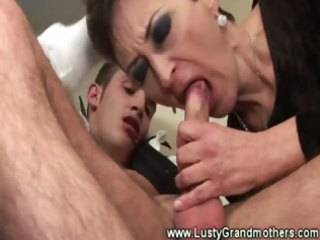 aged granny sucks penis then screwed and can not