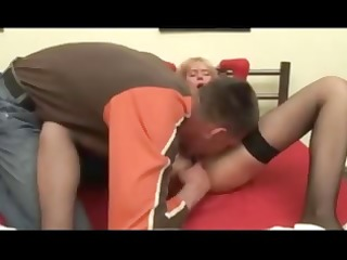 yummy blonde housewife is in a bad mood and her