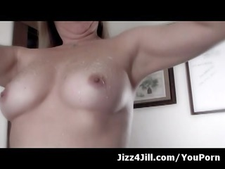 wife squirts sweetheart on her nipps